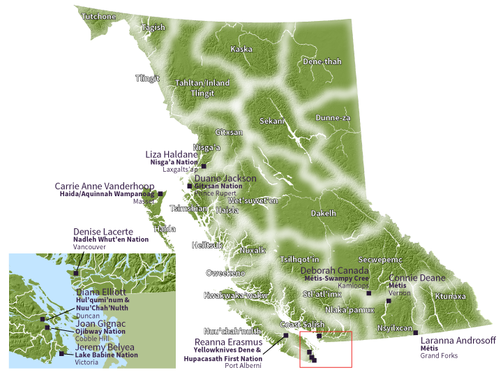 Map of the HELP ASC Member Locations across the province
